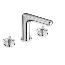 LAVABO MELANGEUR BEAK 3 TROUS CHROME VIDAGE LAITON UP & DOWN
