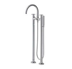 MELANGEUR BAIN DOUCHE SUR PIED CROSS ROAD CHROME