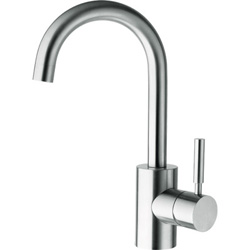 LAVABO TRIVERDE BEC HAUT MOBILE CHROME + UP & DOWN LAITON