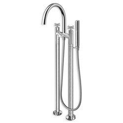 BAIN DOUCHE EXECUTIVE SUR COLONNETTES AU SOL ENTRAXE 180 CHROME