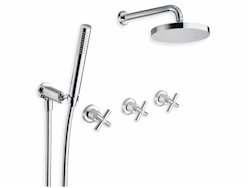 DOUCHE EXECUTIVE ENCASTREE 2 SORTIES CHROME