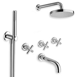 BAIN/DOUCHE EXECUTIVE ENCASTRE 3 SORTIES CHROME
