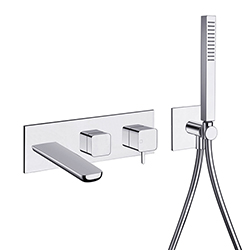 BAIN DOUCHE KING ENCASTRE MURAL 3 SORTIES CHROME EX KG110