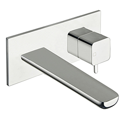 LAVABO MURAL KING AVEC PLAQUE CHROME EX KG276