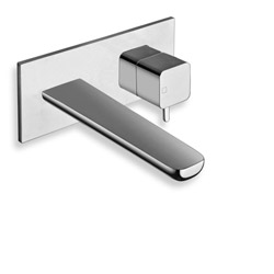 LAVABO MURAL KING AVEC PLAQUE CHROME***KG256