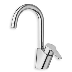 .LAVABO NEW DAY BEC HAUT NF C 3 + VIDAGE CHROME