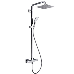 .COLONNE DE DOUCHE THERMOSTATIQUE TABULA 250 COMPLETE CHROME