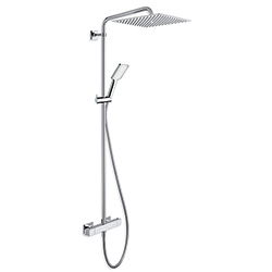 .COLONNE DE DOUCHE QUADRI 300 NF THERMOSTATIQUE CHROME