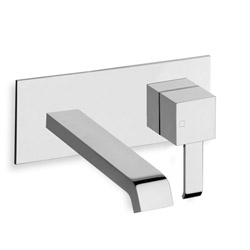 .LAVABO MURAL QUADRI AVEC PLAQUE SAILLIE 18 CM CHROME***QM256