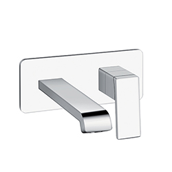 LAVABO MURAL QUADRI S AVEC PLAQUE SAILLIE 18 CM CHROME EX QS266