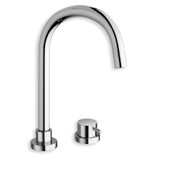 LAVABO TRIVERDE 2 TROUS CHROME + vidage UP & DOWN