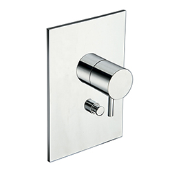 DOUCHE TRIVERDE ENCASTREE 2 SORTIES ABS CHROME