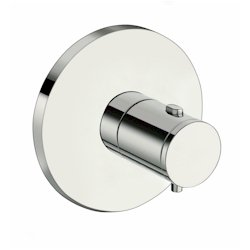 FACADE EXTERNE TRIVERDE PLAQUES RONDES THERMOSTATIQUE CHROME