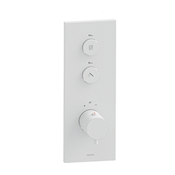 FACADE THERMO UP VERTICALE THERMOSTATIQUE 2 SORTIES TRIVERDE WHITEMAT