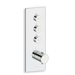 FACADE THERMO UP VERTICALE THERMOSTATIQUE 3 SORTIES CHROME TRIVERDE