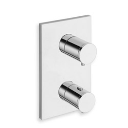 FACADE EXTERNE TRIVERDE THERMOSTATIQUE LAITON 1 SORTIE CHROME